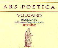 Ars Poetica Vulcano Aglianico IGT wine label