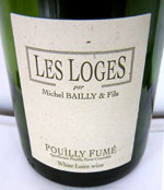 Michel Bailly Pouilly-Fume Les Loges wine bottle