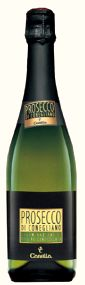 Canella Prosecco sparkling wine bottle