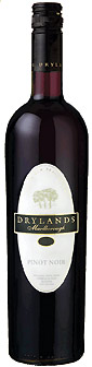Drylands Pinot Noir Marlborough NZ wine bottle