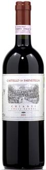 Castello di Farnetella Chianti Colli Senesi red wine bottle