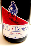 Hill of Content Shiraz wine bottle