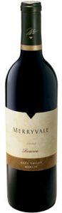 Merryvale Merlot Reserve wine bottle