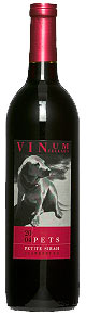 Vinum Cellars Wilson Vineyards PETS Petite Sirah wine bottle