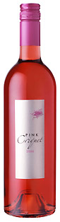 Pink Criquet rose wine bottle