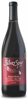 Silver Spur Pinot Noir wine bottle
