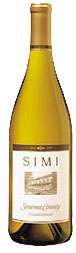 Simi Sonoma County Chardonnay wine bottle