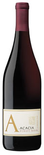Acacia A Pinot Noir wine bottle