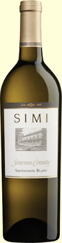 Simi Winery Sauvignon Blanc Sonoma County wine bottle