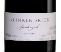 Klinker Brick Farrah Syrah 2010 wine bottle label