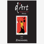 d'art zinfandel red wine label from lodi california