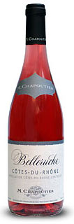 M. Chapoutier Belleruche Rose wine bottle